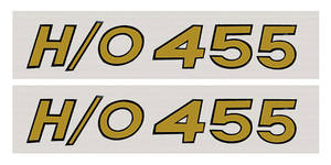 1969 Cutlass Hood Scoop Decals, by RESTOPARTS