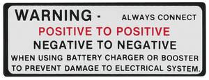 1964-65 Cutlass Battery Warning Decal