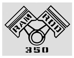 1969 Cutlass/442 Fender Decal Black Ram Rod 350