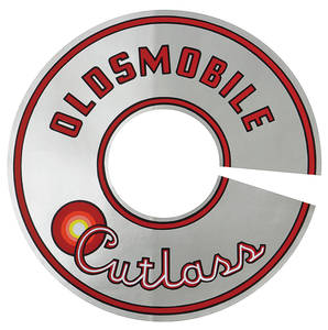 "1965-1965 Cutlass Air Cleaner Decal Cutlass 330/2-BBL 7-1/2"" (Silver)"