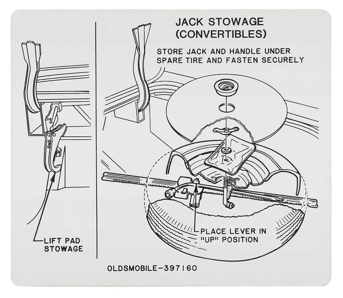1967 cutlass trunk decal