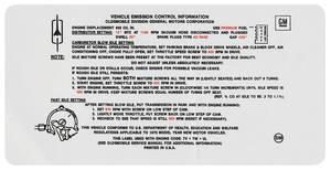 1970-1970 Cutlass Emissions Decal 455 4-Bbl 4-4-2 AT (SM)