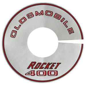 "1968 Cutlass/442 Air Cleaner Decal Rocket 400/2-BBL 8"" (Silver)"