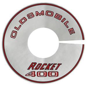 "1968 Cutlass/442 Air Cleaner Decal Rocket 400/2-BBL 8"" (Silver)"