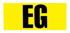 """1966-1968 El Camino Engine Code Designation Decal 396/375 """"EG"""", by RESTOPARTS"""