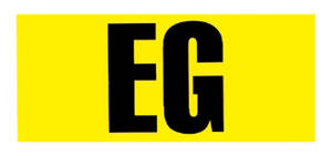 "1966-68 Chevelle Engine Code Designation Decal 396/375 ""EG"", by RESTOPARTS"