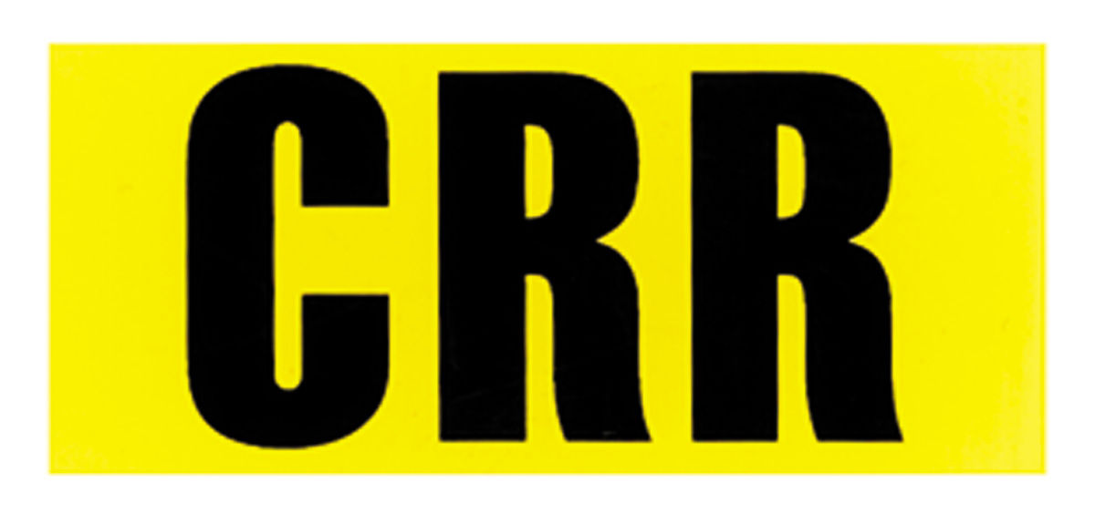 """Photo of Engine Code Designation Decal: LS-6 454/450 HP - """"CRR"""" (Automatic Transmission)"""