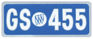 1973-1974 Riviera Valve Cover Decal GS 455 (Large)