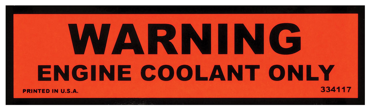 Photo of Cooling System Decal (late '74) (#334117)