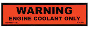 1974-1977 Chevelle Cooling System Decal (Late '74) (#334117)