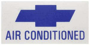 1966-67 Chevelle Air Conditioning Decal