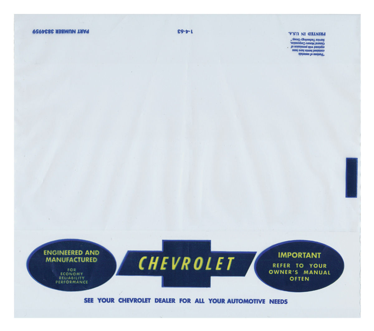 Photo of Owners Manual Plastic Envelope