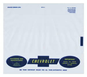 1964-1966 Chevelle Owners Manual Plastic Envelope