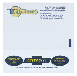 1967-1968 Chevelle Owners Manual Plastic Envelope