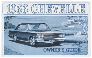 1966-1966 El Camino Owners Manuals, Authentic