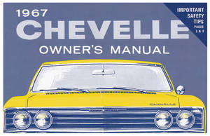 1967 Chevelle Owners Manuals, Authentic