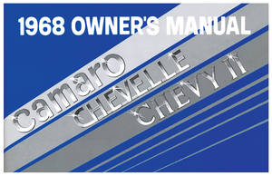 1968-1968 Chevelle Owners Manuals, Authentic