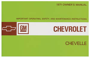 1971-1971 Chevelle Owners Manuals, Authentic