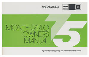 1975 Monte Carlo Authentic Owner's Manuals