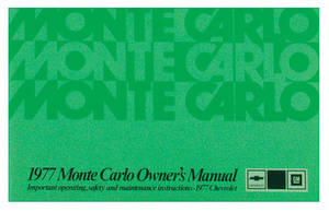 1977 Monte Carlo Authentic Owner's Manuals