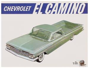 1959 El Camino Color Sales Brochures