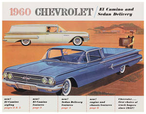 1960 El Camino Color Sales Brochures