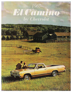 1967 El Camino Color Sales Brochures