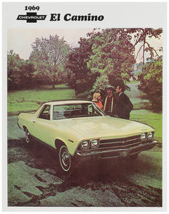 1969 El Camino Color Sales Brochures