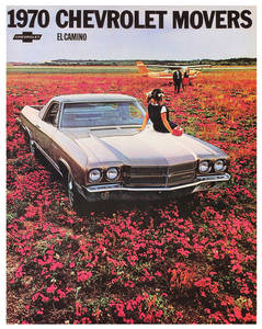 1970 El Camino Color Sales Brochures