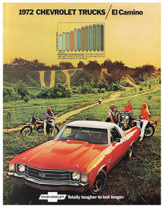 1972 El Camino Color Sales Brochures