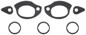 1964-72 LeMans Door Handle & Lock Gasket Kit (Outside) Door Handle/Trunk Lock, 7-Piece, by RESTOPARTS