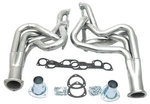 "1968-72 GTO Headers, Performance 400-455 Ho/Sd (At-All, Mt-Floorshift) Round Heads (2"" Tubes/3-1/2"" Collector) ** 132"