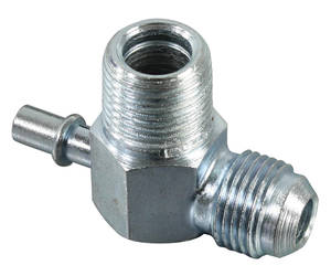 "1967-70 Bonneville Brake Booster Fitting (Power Brake) 2-Port, Screw-on/1/4"" Slip-on"