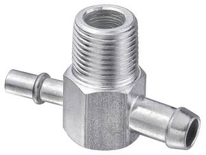 "1964-1966 Cutlass Brake Booster Fitting (Power Brake) 2-Port, Slip on (1/4"" & 3/8""), by CPP"