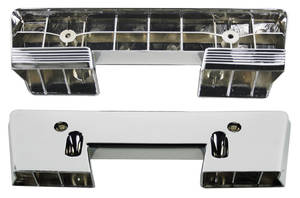 1960-64 Armrest Bases, Chrome Front All Exc. Bonneville Brougham, by RESTOPARTS