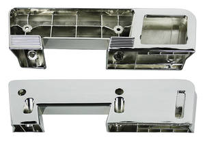 1961-67 GTO Armrest Bases, Chrome Rear (Exc. Convertible), by RESTOPARTS