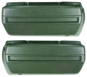 1968-1970 Armrest Bases, Plastic Injection-Molded Front, Catalina