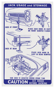 1966 LeMans Jacking Instruction Decal Early