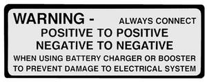 1963-1965 Bonneville Engine Compartment Decal Battery Warning
