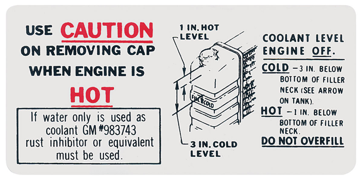 Photo of Cooling System Decal caution (hot) (#983743)