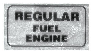 1970 LeMans Valve Cover Decal Regular Fuel Engine