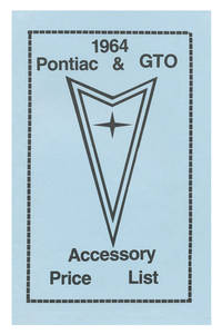 1964-1964 LeMans Accessory Price List
