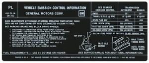 1972-1972 LeMans Emissions Decal 400-4V (PL, #487352)