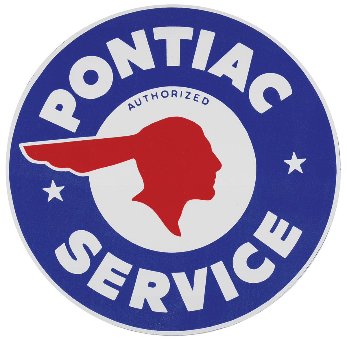 Photo of Pontiac Decal, Authorized Indian Head, 10""
