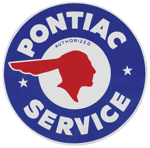 1962-1977 Grand Prix Pontiac Decal, Authorized Indian Head, 10""