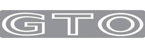 "1968-1973 GTO Body Decal, 1968-73 ""GTO"" White, by RESTOPARTS"