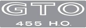 """Body Decal, 1971 """"GTO 455 H.O."""" White"""