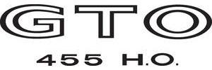 "Body Decal, 1971 ""GTO 455 H.O."" Black"