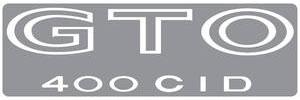 """1973-1973 GTO Body Decal, 1973 """"GTO 400 CID"""" White"""