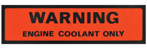 1974-77 Catalina Cooling System Decal Engine Coolant (#334117)
